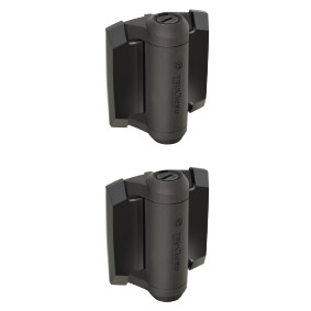 D&D Tru Close HEAVY DUTY - HINGE SET - Adjustable Tension Pair of 2 (with alignment legs) - BLACK Trim