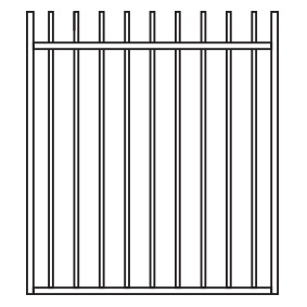 Six Star Tubular - 3 in 1 Perimeter Gate