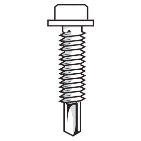 Six Star Tubular – Box of 500 TEK SCREWS – (BLACK)