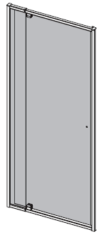 1950mm H x 850mm W – INLINE PIVOT DOOR