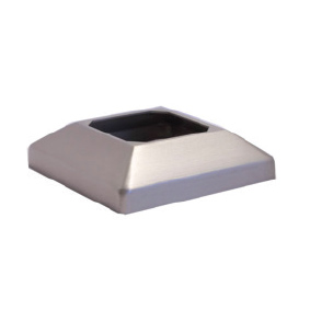 ULTRA – Anodised Aluminium SQUARE 25mm Domical Cover for Base Plate