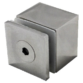 SQUARE STANDOFF SS316 - 40x40mm CAP, 30mm BODY