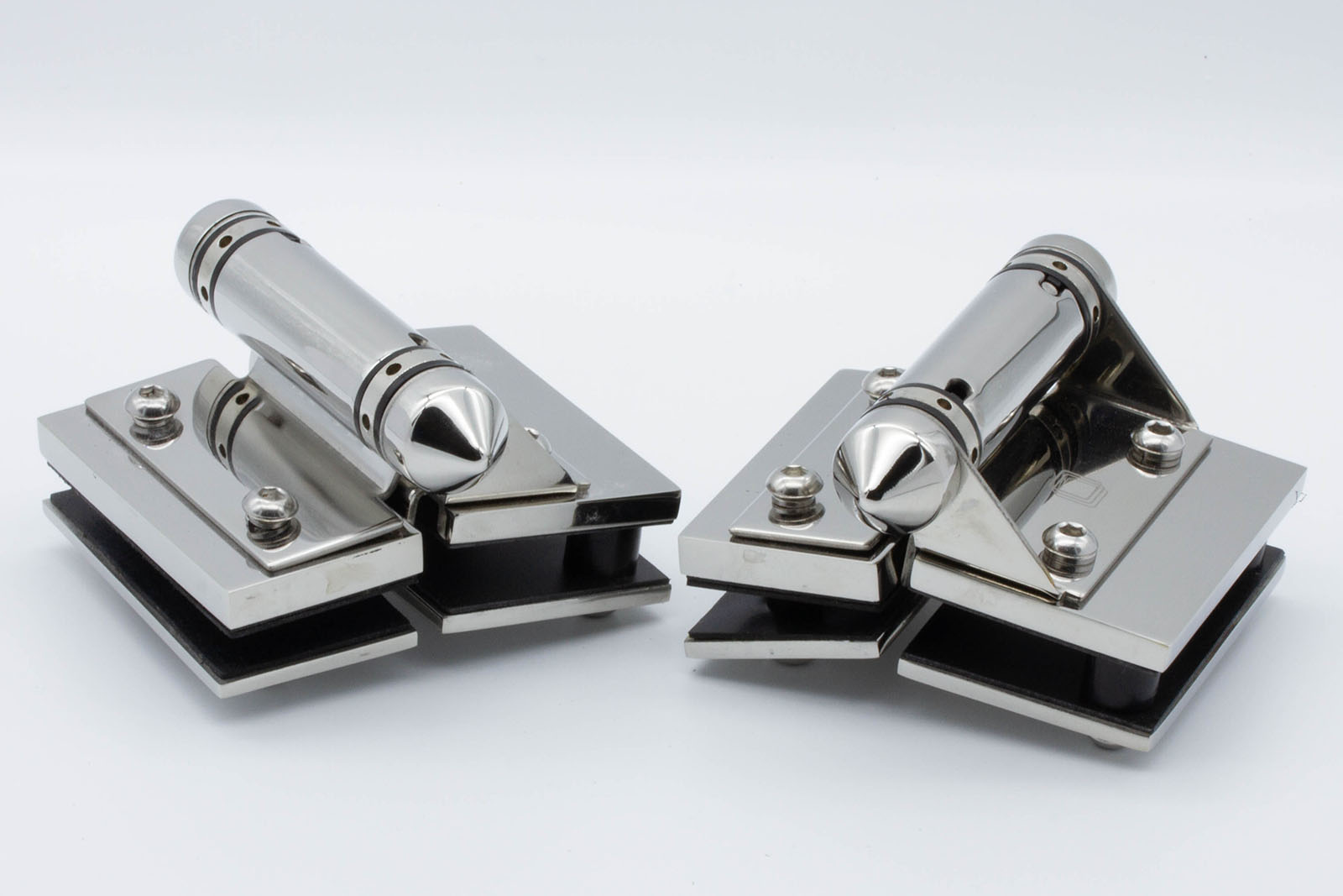 Master Range – Glass to Glass 180° HINGE SET – Pair of 2 – SS316