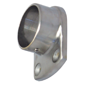 Frameless Balustrade - 38mm Dia - WALL PLATE 25mm Ext Flange - SS316