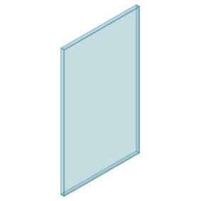 10mm Clear TGH HEAT SOAKED Glass – Balustrade – 480mmW x 850mmH