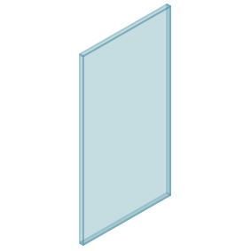 10mm Clear TGH HEAT SOAKED Glass – Balustrade – 480mmW x 950mmH