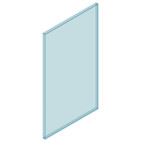 10mm Clear TGH HEAT SOAKED Glass – Balustrade – 530mmW x 950mmH