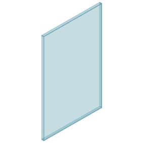 10mm Clear TGH HEAT SOAKED Glass – Balustrade – 580mmW x 950mmH