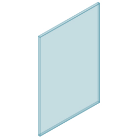 10mm Clear TGH HEAT SOAKED Glass – Balustrade – 630mmW x 950mmH