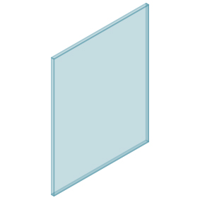 10mm Clear TGH HEAT SOAKED Glass – Balustrade – 730mmW x 950mmH
