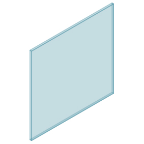 10mm Clear TGH HEAT SOAKED Glass – Balustrade – 980mmW x 950mmH