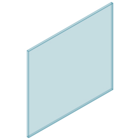 10mm Clear TGH HEAT SOAKED Glass – Balustrade – 1030mmW x 950mmH