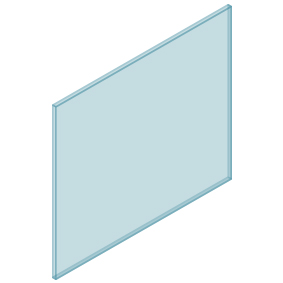 10mm Clear TGH HEAT SOAKED Glass – Balustrade – 1080mmW x 950mmH