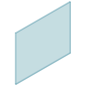 10mm Clear TGH HEAT SOAKED Glass – Balustrade – 1130mmW x 950mmH