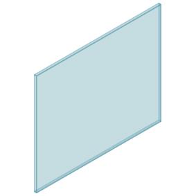 10mm Clear TGH HEAT SOAKED Glass - Balustrade - 1130mmW x 950mmH