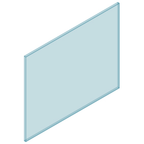 10mm Clear TGH HEAT SOAKED Glass – Balustrade – 1180mmW x 950mmH
