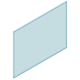 10mm Clear TGH HEAT SOAKED Glass – Balustrade – 1230mmW x 950mmH