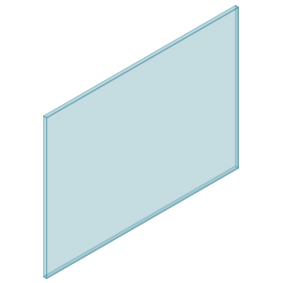 10mm Clear TGH HEAT SOAKED Glass – Balustrade – 1280mmW x 950mmH