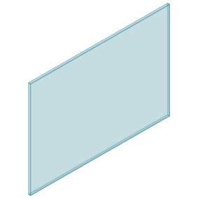 10mm Clear TGH HEAT SOAKED Glass – Balustrade – 1330mmW x 950mmH