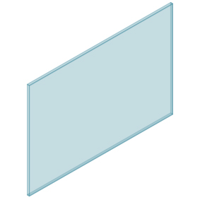 10mm Clear TGH HEAT SOAKED Glass – Balustrade – 1380mmW x 950mmH