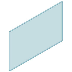 10mm Clear TGH HEAT SOAKED Glass – Balustrade – 1430mmW x 950mmH