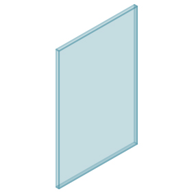 10mm Clear TGH HEAT SOAKED Glass – Balustrade – 530mmW x 850mmH