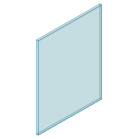 10mm Clear TGH HEAT SOAKED Glass – Balustrade – 630mmW x 850mmH