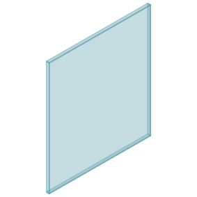 10mm Clear TGH HEAT SOAKED Glass – Balustrade – 730mmW x 850mmH
