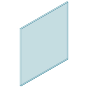 10mm Clear TGH HEAT SOAKED Glass – Balustrade – 830mmW x 850mmH