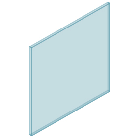 10mm Clear TGH HEAT SOAKED Glass – Balustrade – 880mmW x 850mmH