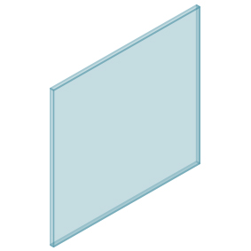 10mm Clear TGH HEAT SOAKED Glass – Balustrade – 930mmW x 850mmH