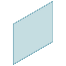 10mm Clear TGH HEAT SOAKED Glass – Balustrade – 980mmW x 850mmH