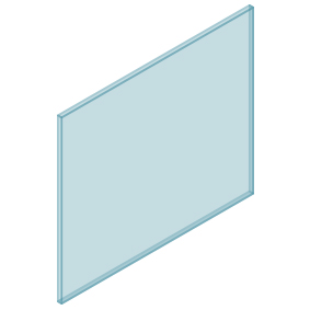 10mm Clear TGH HEAT SOAKED Glass – Balustrade – 1030mmW x 850mmH