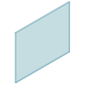10mm Clear TGH HEAT SOAKED Glass – Balustrade – 1080mmW x 850mmH