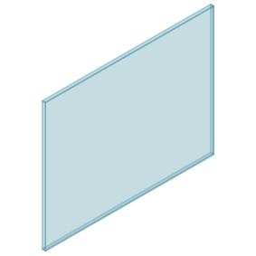 10mm Clear TGH HEAT SOAKED Glass – Balustrade – 1130mmW x 850mmH