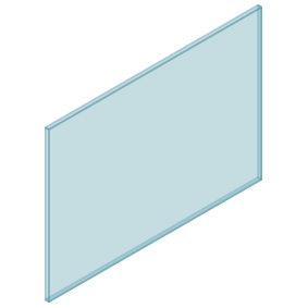 10mm Clear TGH HEAT SOAKED Glass – Balustrade – 1230mmW x 850mmH