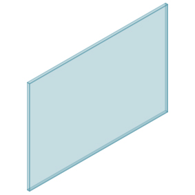 10mm Clear TGH HEAT SOAKED Glass – Balustrade – 1280mmW x 850mmH