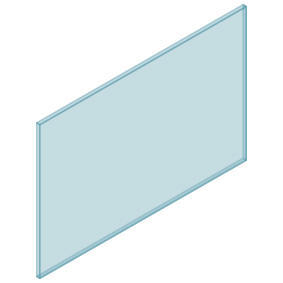10mm Clear TGH HEAT SOAKED Glass – Balustrade – 1330mmW x 850mmH