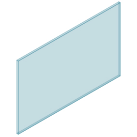 10mm Clear TGH HEAT SOAKED Glass – Balustrade – 1380mmW x 850mmH