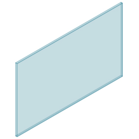 10mm Clear TGH HEAT SOAKED Glass – Balustrade – 1430mmW x 850mmH