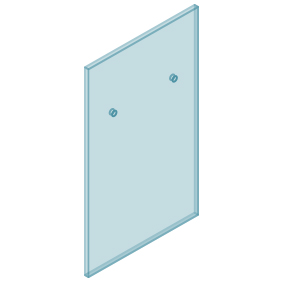 12mm Clear TGH HEAT SOAKED Glass - Euro Offset NO HOLE Balustrade 650mmW x 970mmH