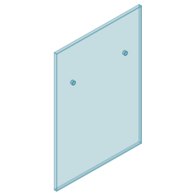 12mm Clear TGH HEAT SOAKED Glass - Euro Offset NO HOLE Balustrade 700mmW x 970mmH