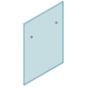12mm Clear TGH HEAT SOAKED Glass – Euro Offset NO HOLE Balustrade 750mmW x 970mmH