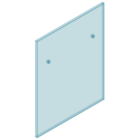 12mm Clear TGH HEAT SOAKED Glass – Euro Offset NO HOLE Balustrade 800mmW x 970mmH