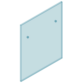 12mm Clear TGH HEAT SOAKED Glass – Euro Offset NO HOLE Balustrade 850mmW x 970mmH