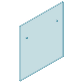 12mm Clear TGH HEAT SOAKED Glass - Euro Offset NO HOLE Balustrade 900mmW x 970mmH