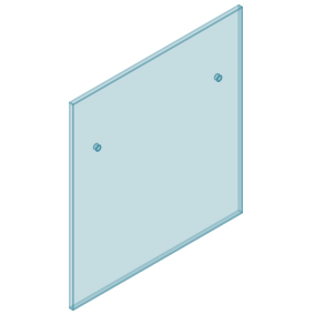 12mm Clear TGH HEAT SOAKED Glass - Euro Offset NO HOLE Balustrade 950mmW x 970mmH
