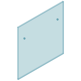 12mm Clear TGH HEAT SOAKED Glass - Euro Offset NO HOLE Balustrade 1000mmW x 970mmH