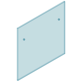 12mm Clear TGH HEAT SOAKED Glass - Euro Offset NO HOLE Balustrade 1050mmW x 970mmH