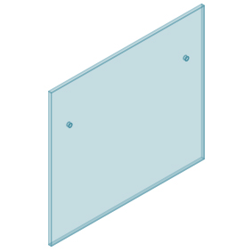 12mm Clear TGH HEAT SOAKED Glass - Euro Offset NO HOLE Balustrade 1150mmW x 970mmH